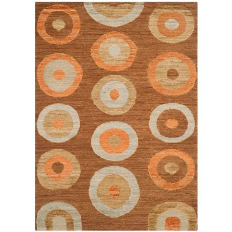 area rugs santa safavieh santa fe chocolate 6 ft x 9 ft area rug stf440a 6 the home depot
