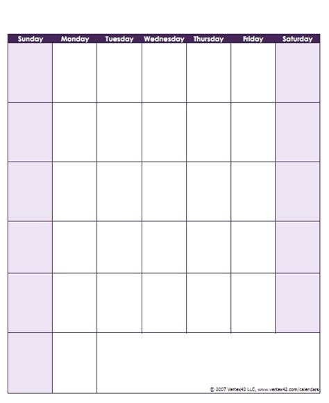 empty chart with days of the week world of printable and