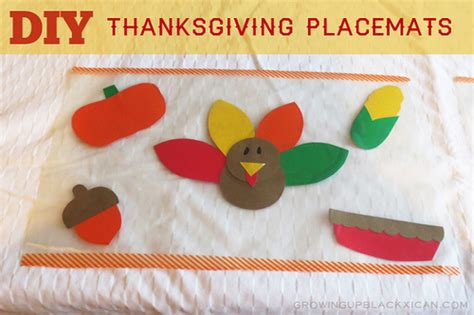 thanksgiving placemat craft for diy thanksgiving placemats for gublife