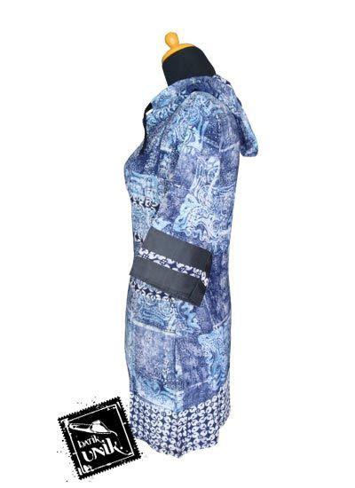Baju Koko Batik Sabrina Motif 2 Promo baju batik blus hoodie motif etnik aplikasi kawung promo blus tanggung murah batikunik