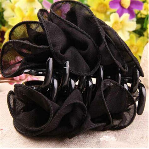 Bow Hair Claw korean chiffon flower bow jaw clip barrette