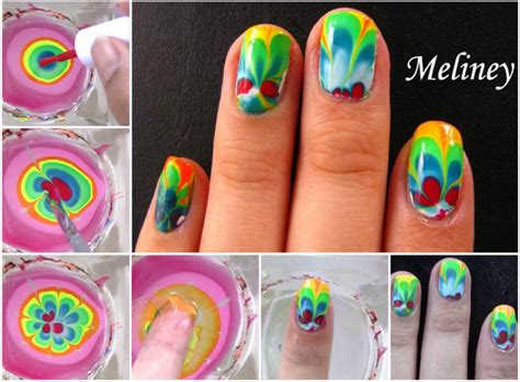 Water Marble Nail Art Tutorial Step By Step
