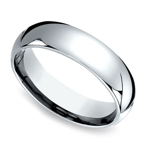 comfort fit comfort fit men s wedding ring in white gold 6mm