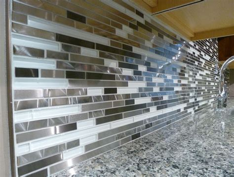 Metal Kitchen Backsplash Ideas metal kitchen backsplash tiles 28 images metal glass