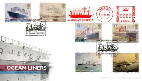 Great Britain Liners 2004 St Set liners ss great britain day cover bfdc