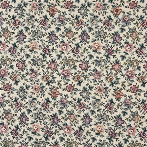 floral tapestry upholstery fabric beige burgundy and green floral flowers tapestry