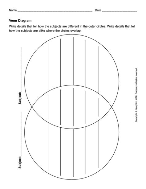 Template Diagram by 41 Free Venn Diagram Templates Word Pdf Free Template