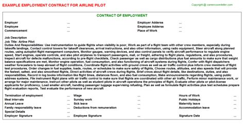 Pilot Description by Airline Pilot Employment Contracts
