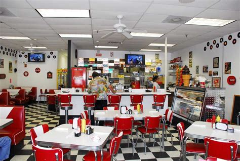 Diner Interior by Grand Opening At Doo Wop Diner