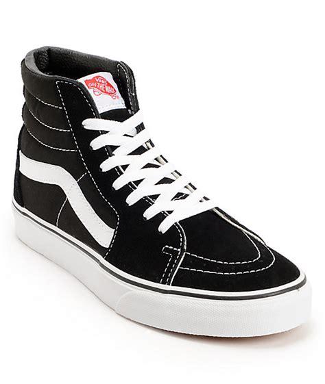 vans sk8 hi black white skate shoes mens at zumiez pdp