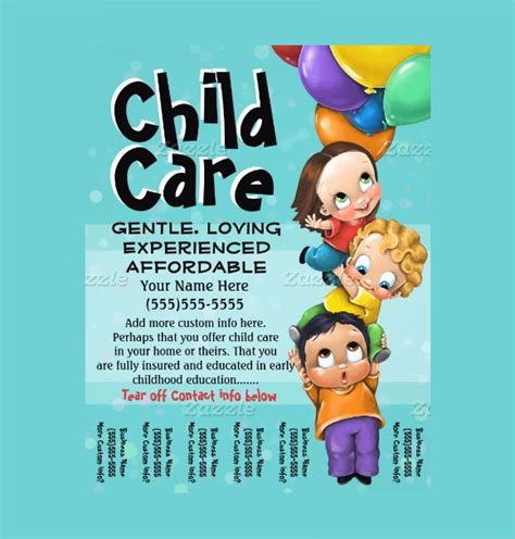 free childcare templates 8 day care flyers psd