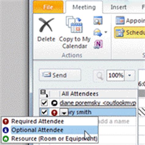 Bcc Calendar To Cc Or Bcc A Meeting Request