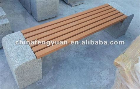 concrete and wood bench concrete park bench stone bench outdoor bench modern