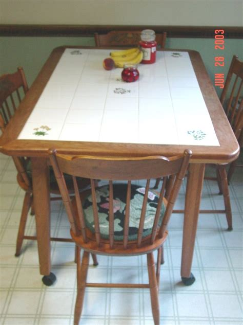 Tiled Kitchen Table Ceramic Tile Kitchen Table Kitchen Ideas