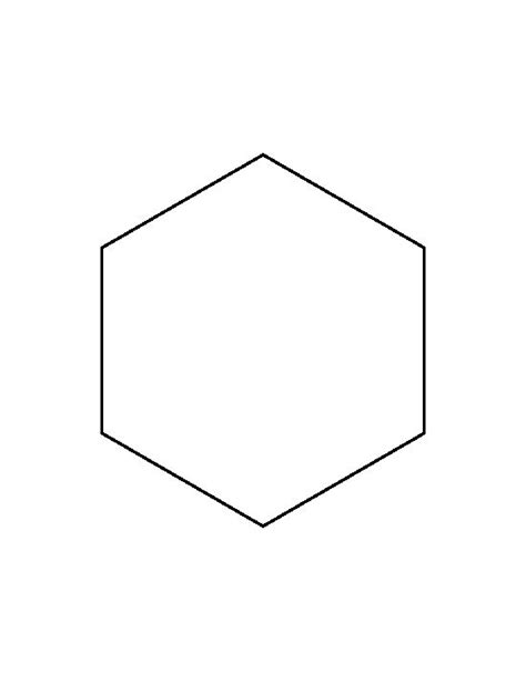 6 inch hexagon pattern use the printable outline for