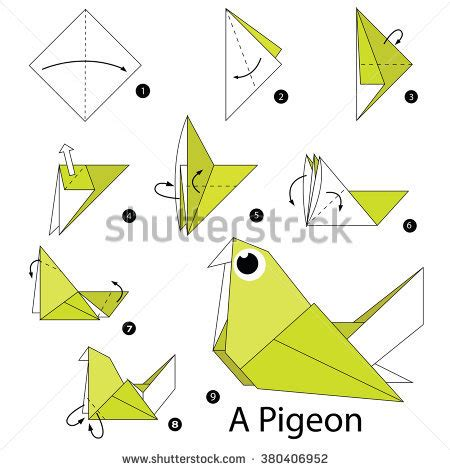 How To Make A Paper Parrot Step By Step - origami parrot stock images royalty free images vectors