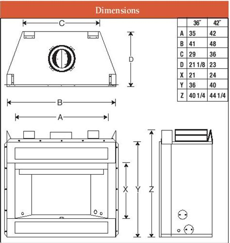 fireplace insert dimensions fireplace dimensions 28 images average fireplace