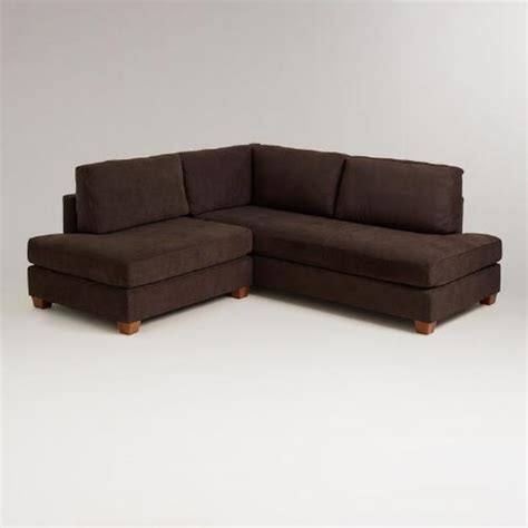 wyatt sectional sofa chocolate wyatt sectional sofa world market