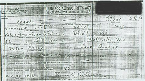 State Of Wisconsin Birth Records Frank Otto Stuer