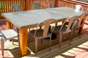 Cement Patio Tables Concrete Patio Table New House