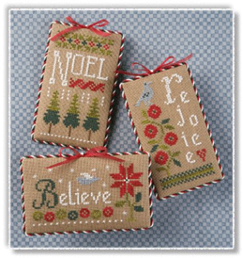 lizzie kate s105 christmas ornaments cross stitch patterns