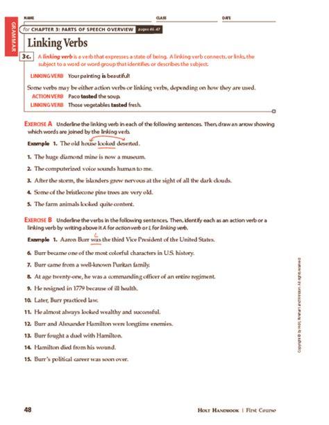Linking Verbs Worksheet by Linking Verbs Worksheet Related Keywords Linking Verbs