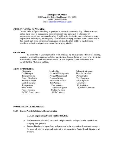 k white resume revised 2015