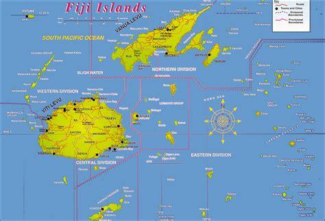 large detailed fiji islands map fiji islands large