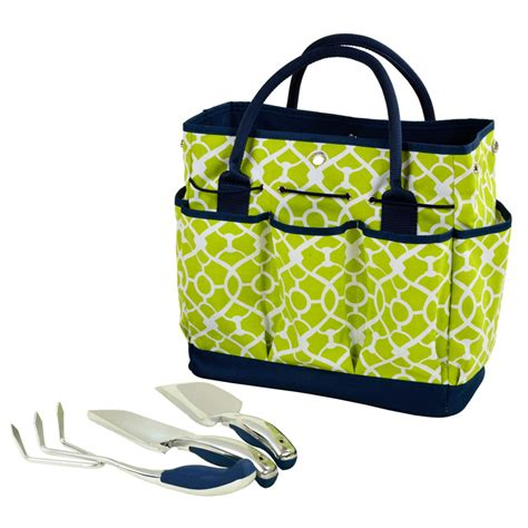 Garden Tote by Gardening Tote With Garden Tools Trellis Green