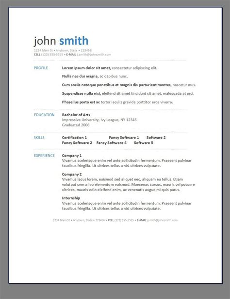 Modern Resume Templates by Modern Resume Posts Related To Resume Template Modern 1