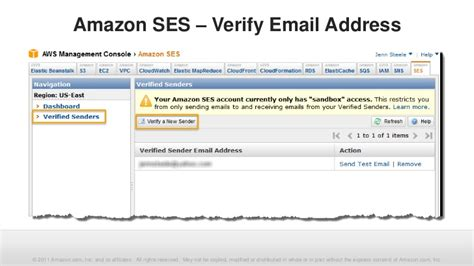 amazon ses webinar amazon ses management console