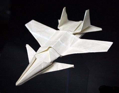 How To Make A Paper Jet Fighter - origami su27k fighter jet