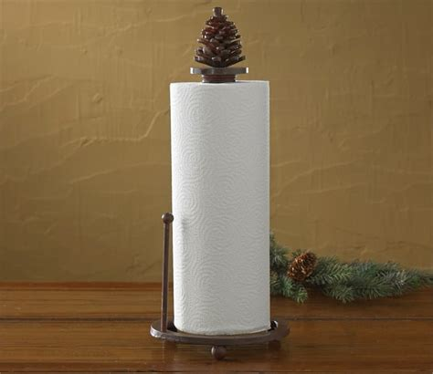 Deer Home Decor pinecone paper towel holder