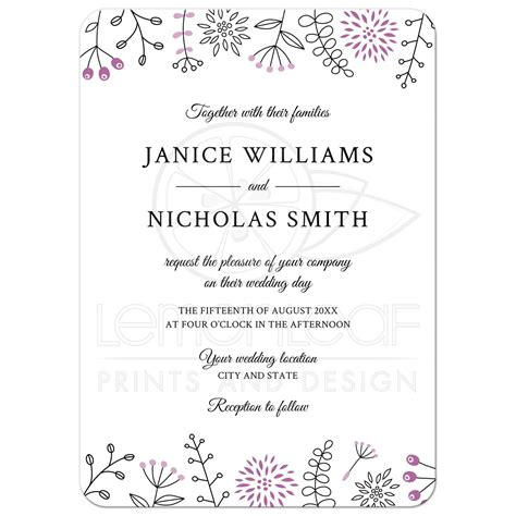 Modern Wedding Border by Purple Nature And Flower Doodle Border Modern Wedding