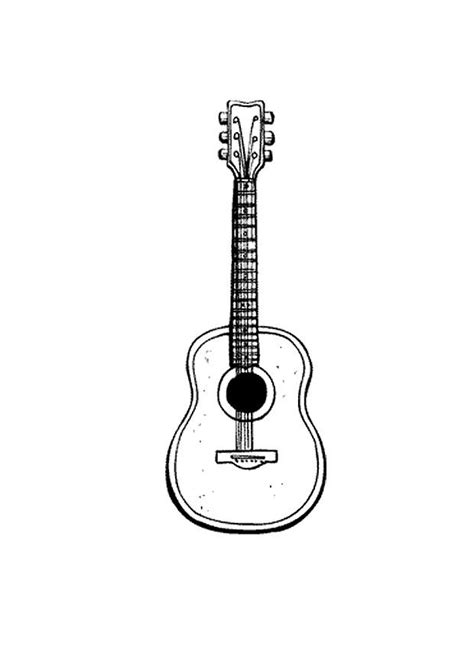 large guitar coloring page coloring page guitar img 9583