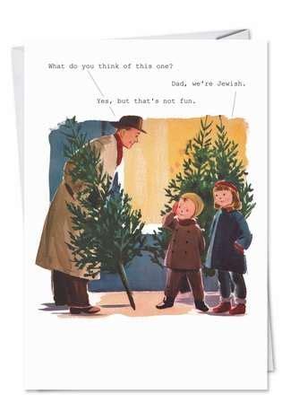 dad  jewish funny adult christmas card