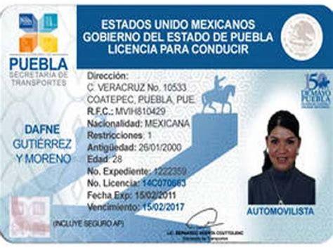 licencia de conducir puebla requisitos puebla lanza licencia permanente de conducir pago 250 nico