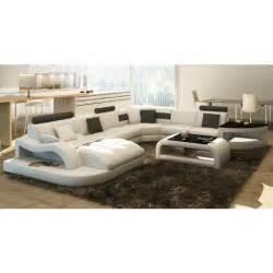 canap 201 d angle design panoramique blanc et noir achat