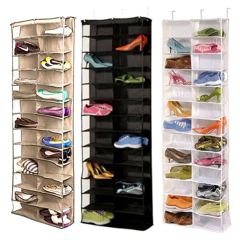 Closet Door Shoe Rack Shoe Rack Storage Organizer Holder Folding Hanging Door Closet 26 Pocket Bk