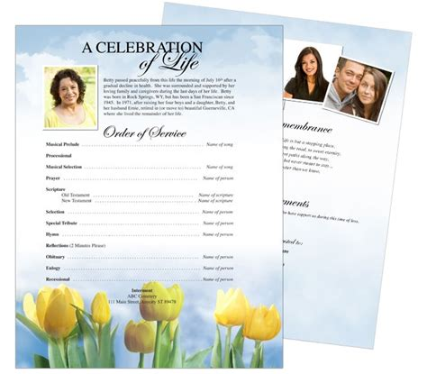 memorial page template 10 best images about funeral memorial stationary flyer