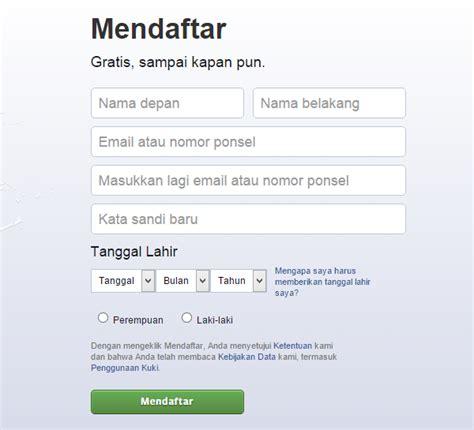 buat akun facebook mendaftar inilah cara membuat mendaftar akun facebook hanya dengan