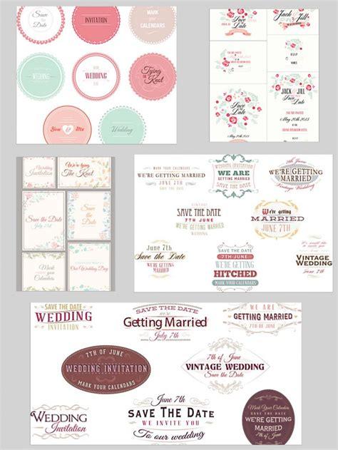 wedding ornament set wedding ornament set vector free