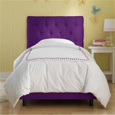 Skyline Furniture Tufted Micro Suede Youth Bed In Purple Purple Bed Frame