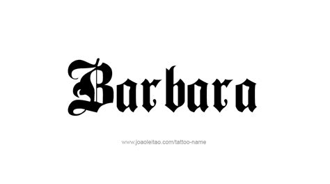 barbara tattoo design barbara name designs