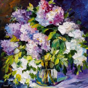 three colors palette knife oil painting on canvas by