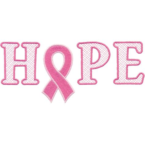 Pink Ribbon And Ribbon pink ribbons breast cancer embroidery designs