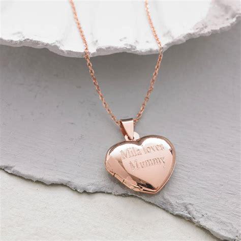 personalised gold locket necklace hurleyburley