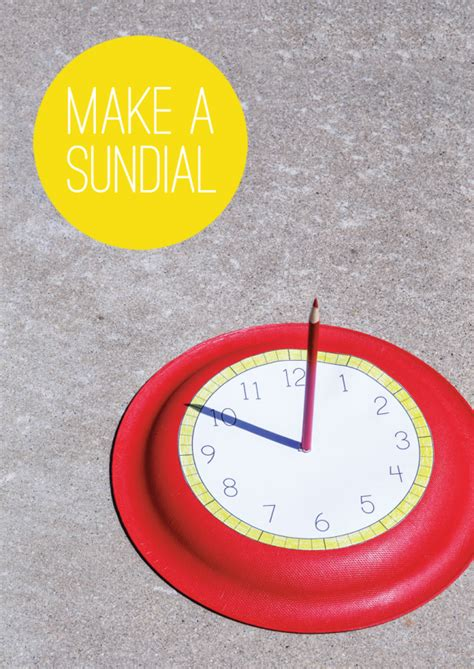 How To Make A Paper Sundial - how to make a sundial summer activities paging supermom