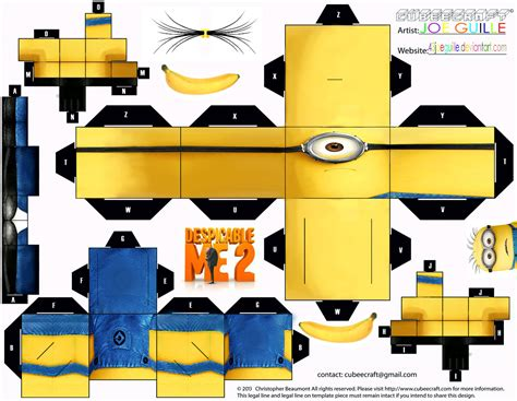 Minion Papercraft - minion cubeecraft by joe guile by 43joeguille on deviantart