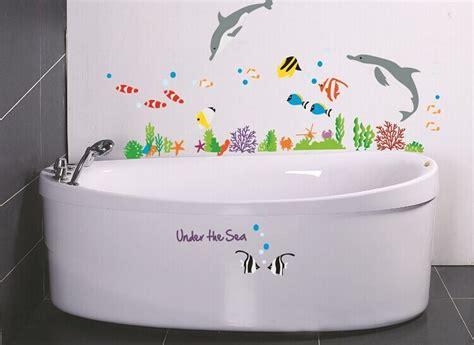 bathroom stickers for kids under the sea wall sticker for shower tile stickers in the bathroom for children kids